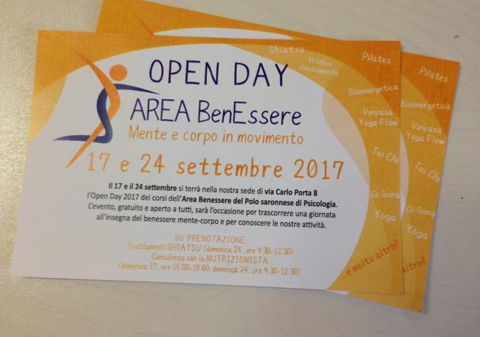 Open Days Area BenEssere Polo Saronnese di Psicologia 2017